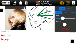 Headsheets App: A hairstyle template creation app