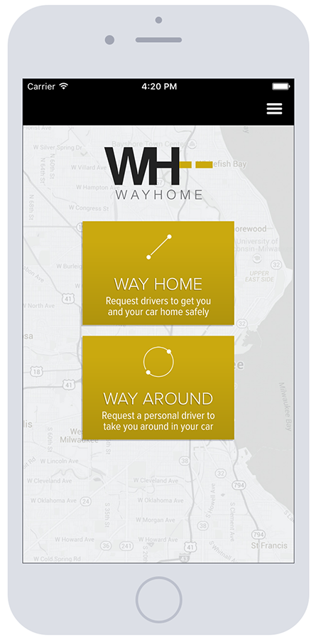 WayHome Screenshot iPhone6 Riders Home | Mobile App Development Milwaukee